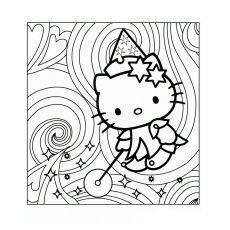 Coloriage Hello Kitty Magique A Imprimer Gratuit Anime Tierno