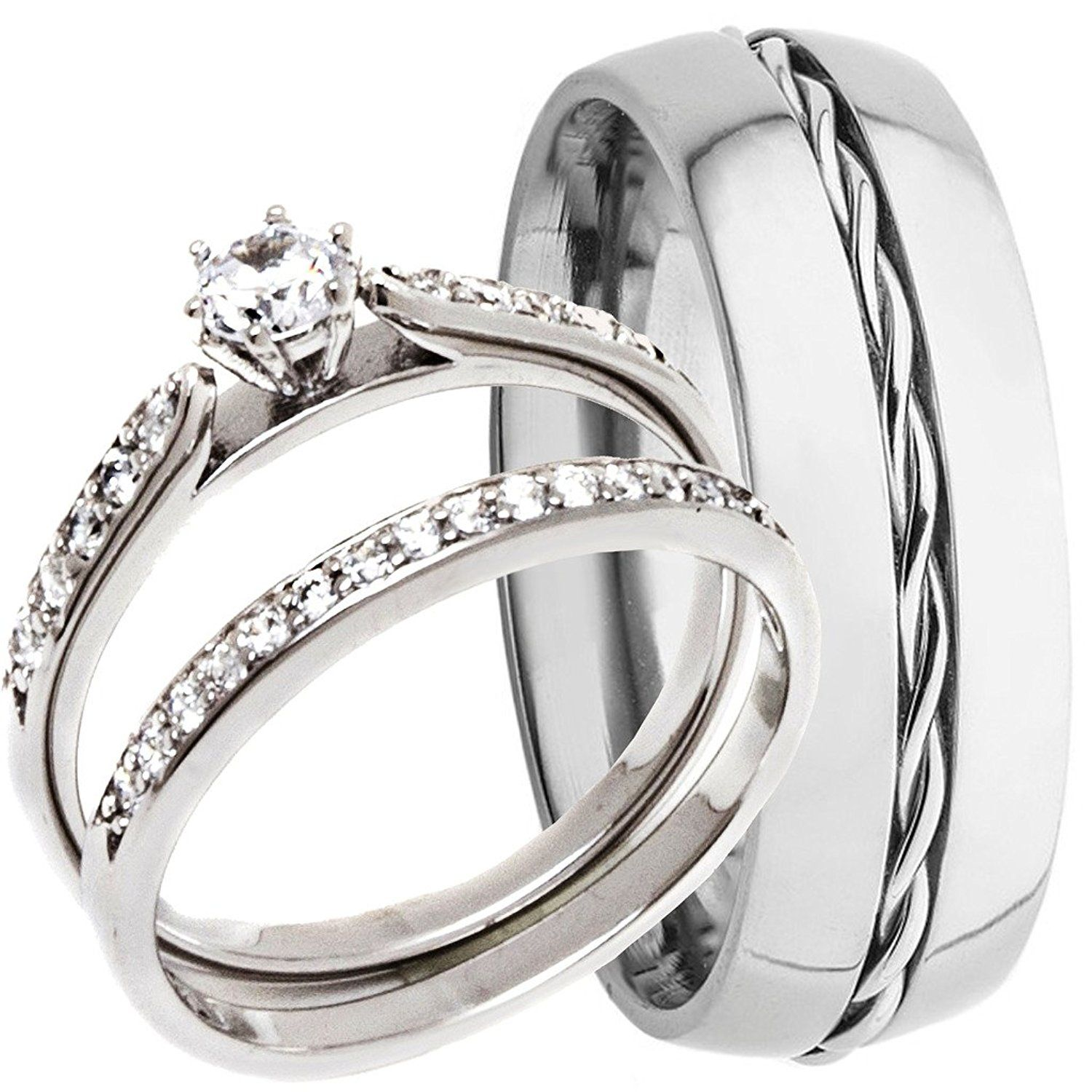 3 Pieces Men's and Women's, His and Hers, 925 Genuine