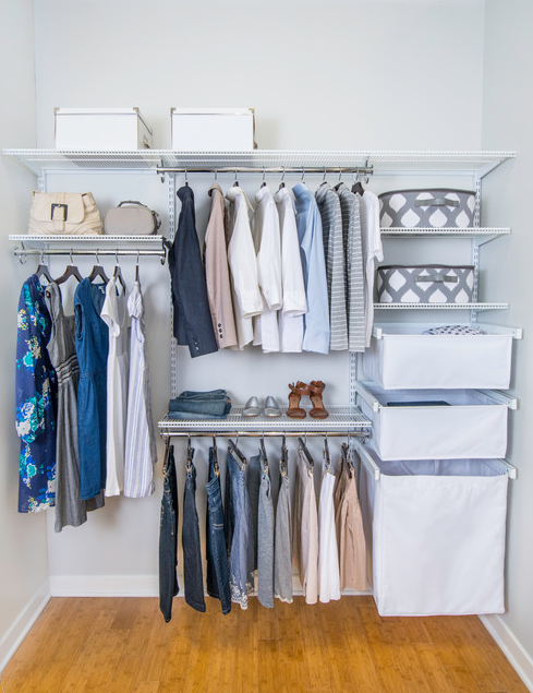 Attirant Closet Organization | Clean Closet | Choose Canvas Baskets, Laundry  Hampers, Slide Out Shoe