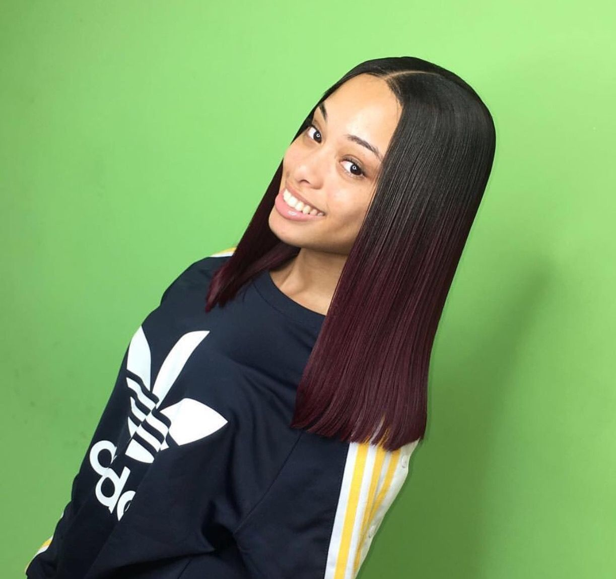 Middle Part Sewin By Certified_touch Pinterest @Hair,Nails