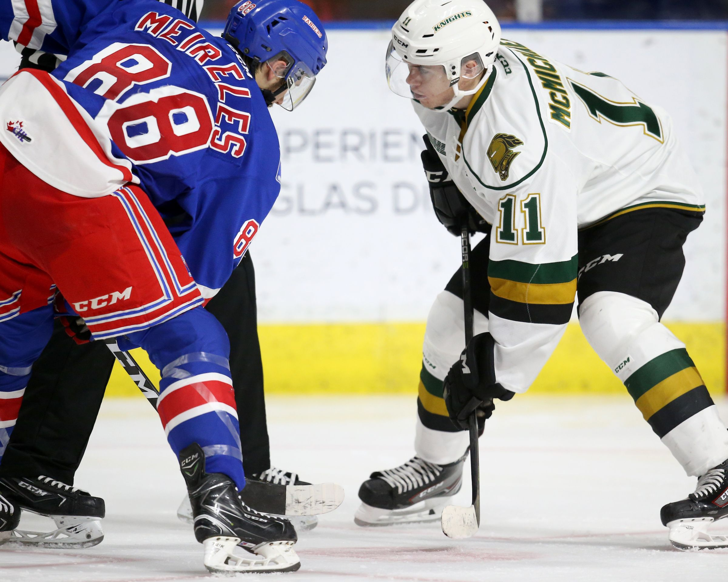 Knights Connor Mcmichael Following In Footsteps Of Success 2019nhlcombine Connormcmichael Ro Washington Capitals Columbus Blue Jackets Usa Today Sports