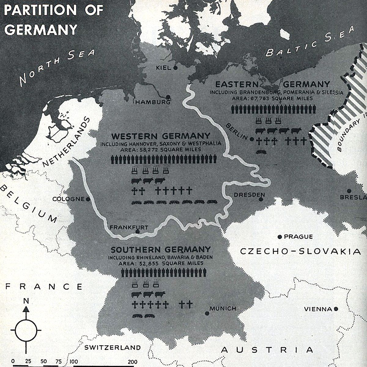 The Post War Partition Of Germany As Proposed By Summer Welles In
