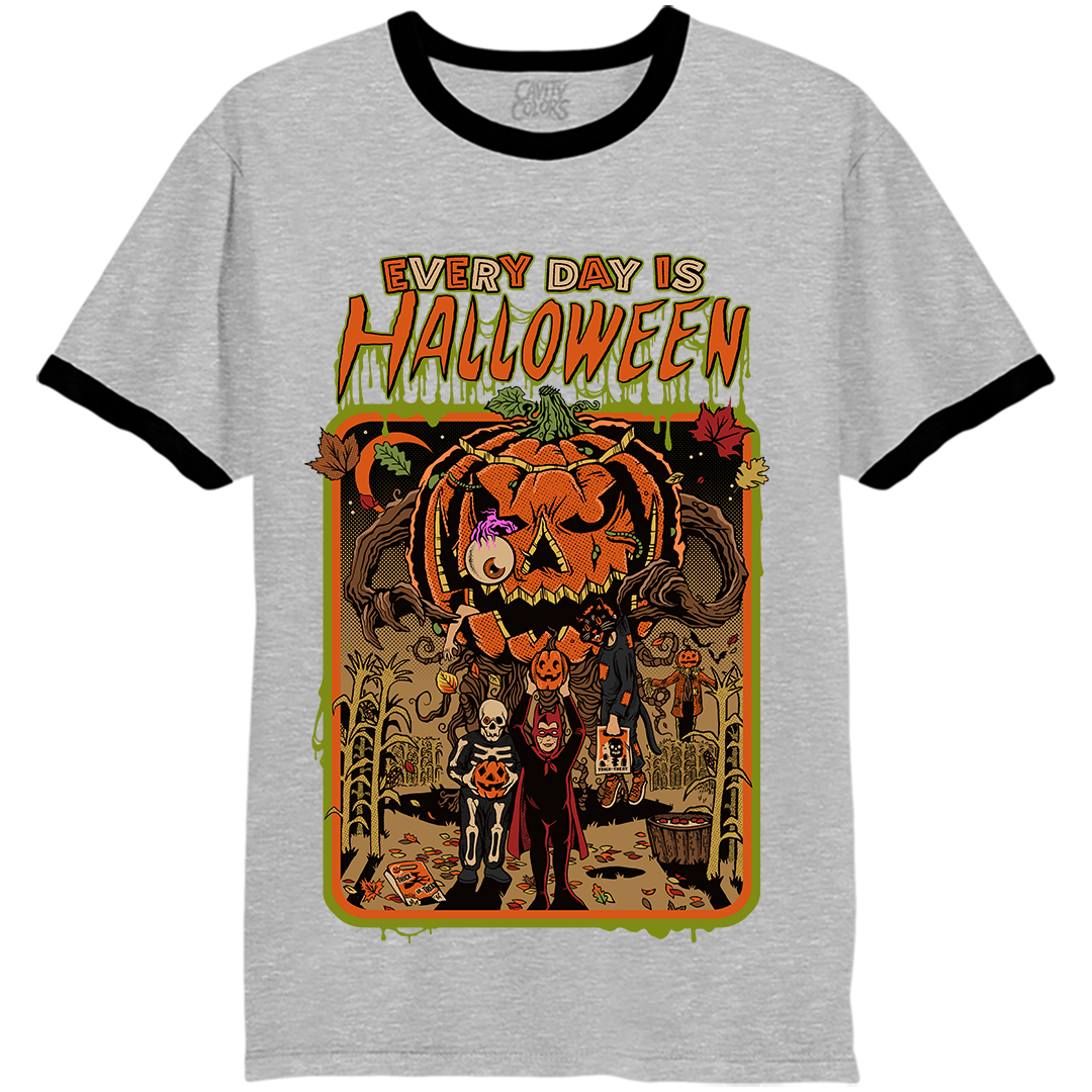Every day is halloween ringer tshirt in 2020 Horror