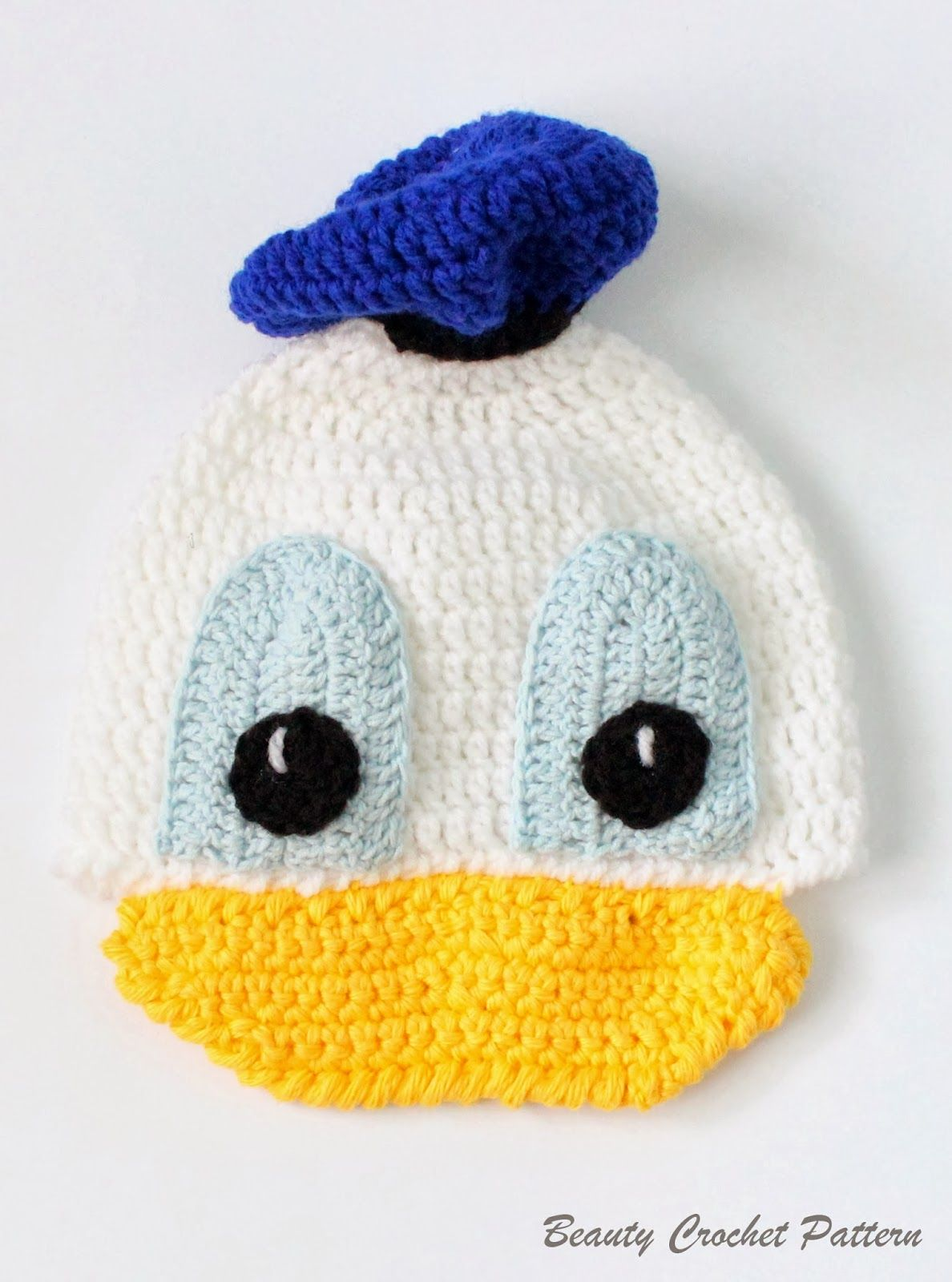 Donald Crochet Hat Pattern by Beauty Crochet Pattern | Muñecos ...