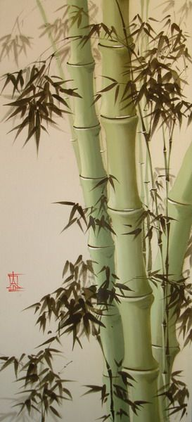 Bamboo Chinese Ink Brush Painting With Images Japanese