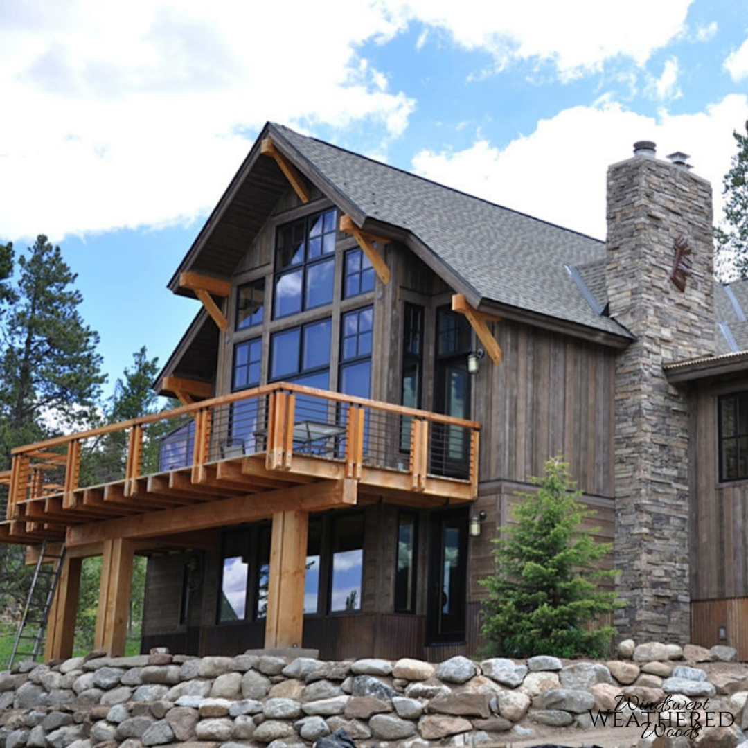 Modern Exterior Wood Siding: Modern Mountain Home With Rustic Wood Siding And Stone