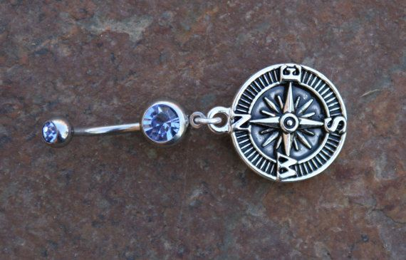 Compass DeSIGNeR Belly Button Ring Simple Cute by chuckhljal, $22.00