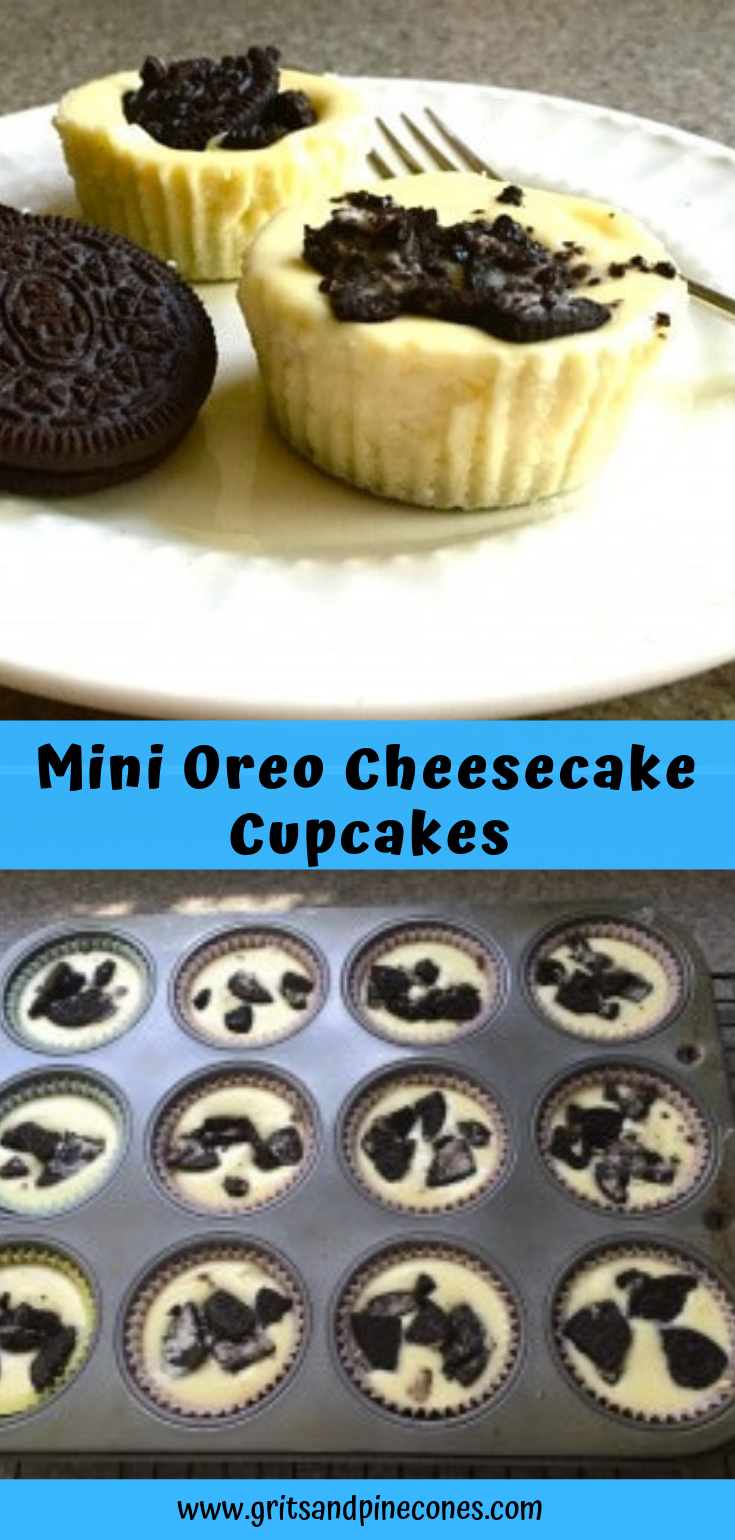 Mini Oreo Cheesecake Cupcakes #cheesecakecupcakes