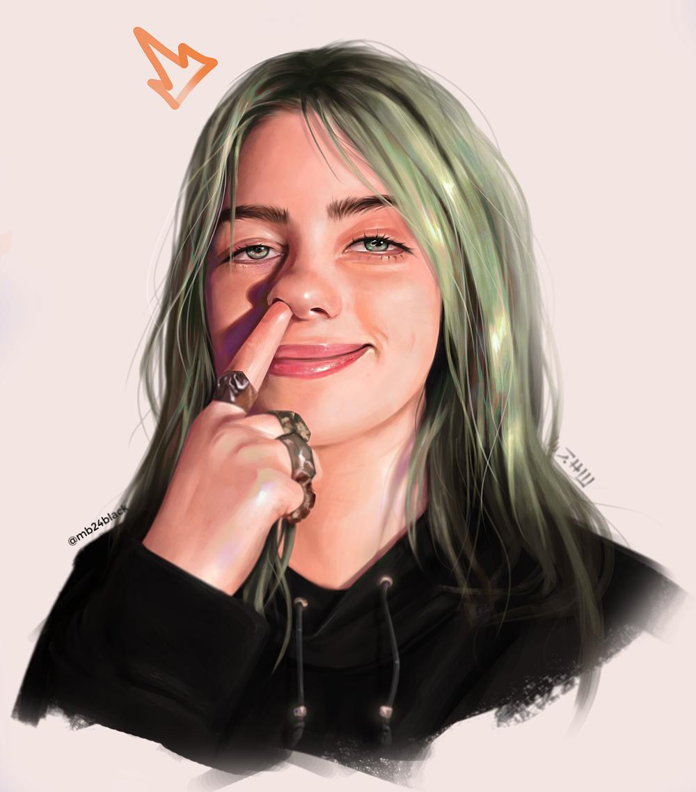 Billie Fan Art By Mb24black On Deviantart In 2021 Portrait Digital Painting Fan Art