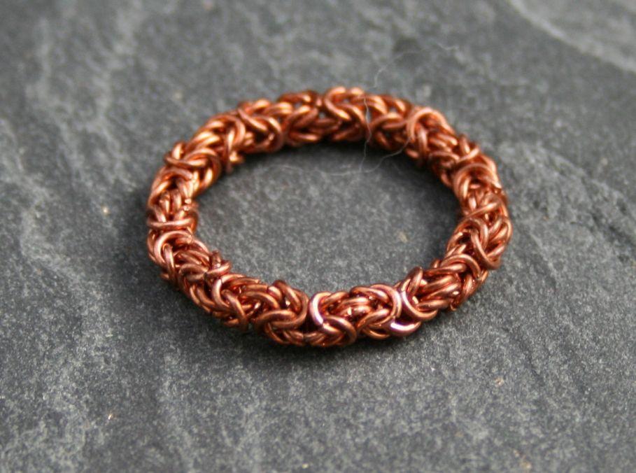 Byzantine Ring Kupfer Ringgrößen, Kupfer und Ringe