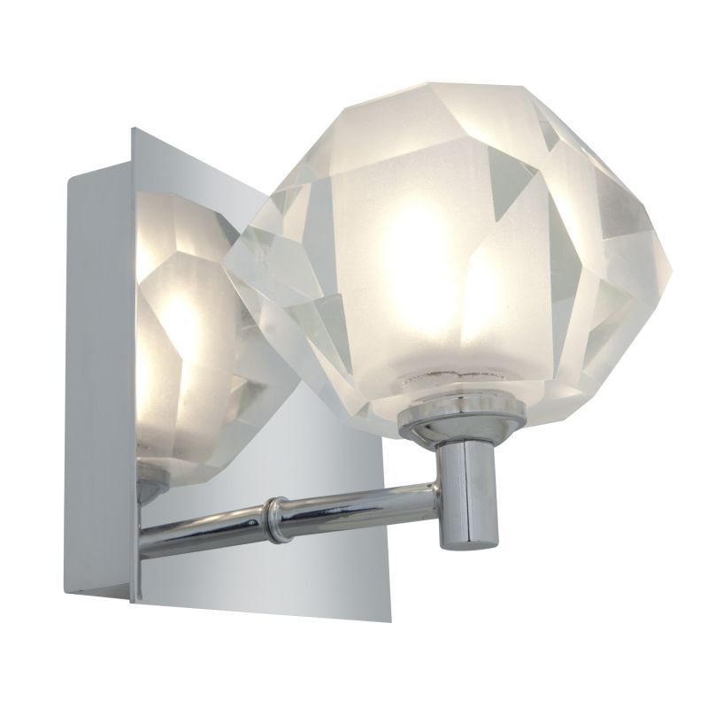 """Access Lighting 23910 Glasíe 1 Light 5"""" Wide Bathroom Sconce with Clear Glass Sh Chrome / Frosted Crystal Indoor Lighting Bathroom Fixtures Bathroom"""
