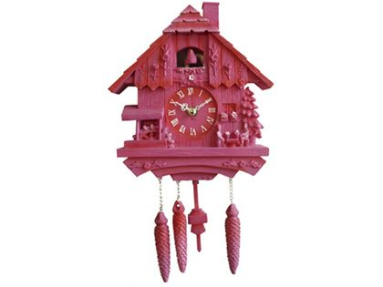 Pink Modern Cuckoo Wall Clock The Gift Emporium Wall Clock Cuckoo