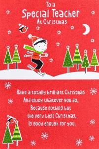 This Is A Cute Message For The Kids To Use In Homemade Cards For Their Teachers Christmas Card Sayings Christmas Card For Teacher Christmas Card Messages