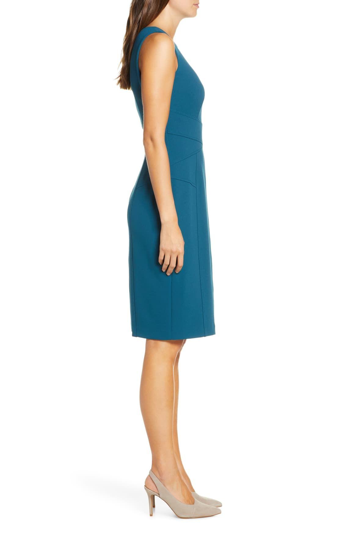 Vince Camuto Sleeveless Crepe Sheath Dress Nordstrom Dresses Sheath Dress Nordstrom Dresses [ 1746 x 1140 Pixel ]