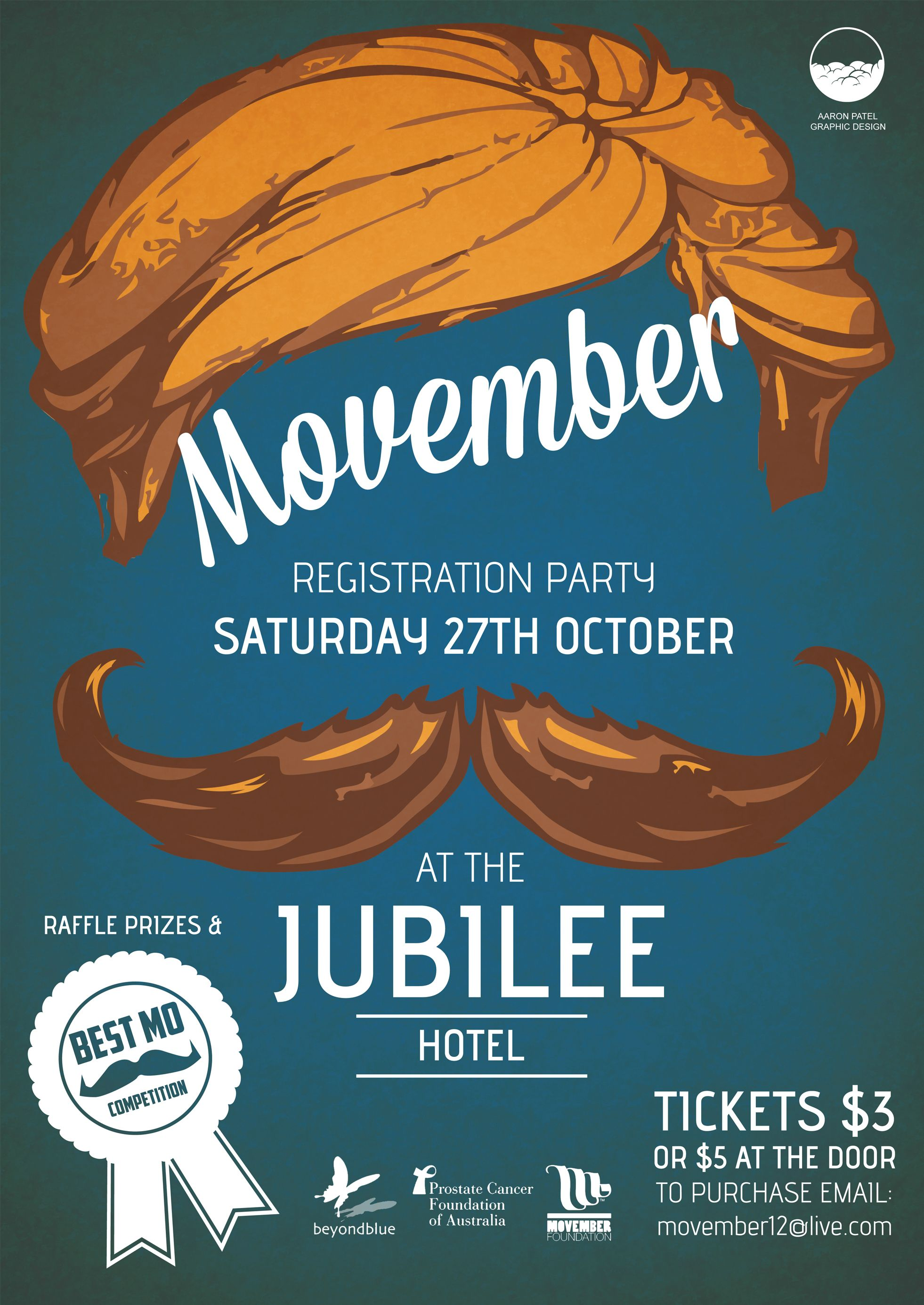 graphic design poster | poster designed for a Movember ...
