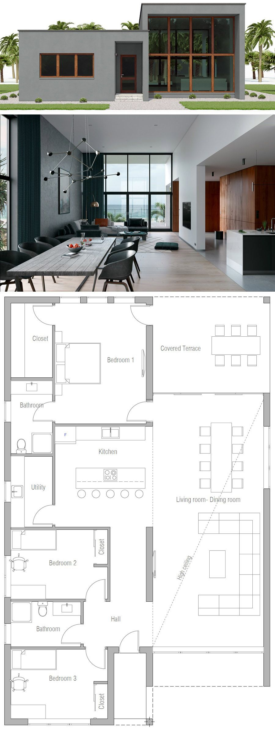 House Plan Ch562 House Layouts Contemporary House Design Modern House Plans