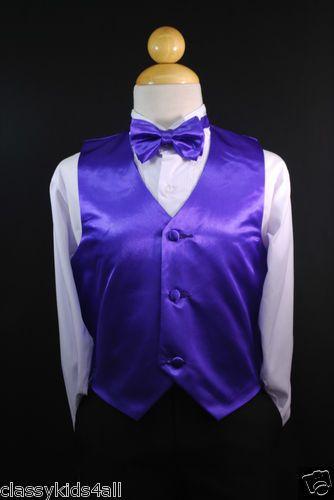 BOW TIE Toddler /& Kids RED VEST LONG NECK TIE Boys Suits /& Tuxedo Sz S-28