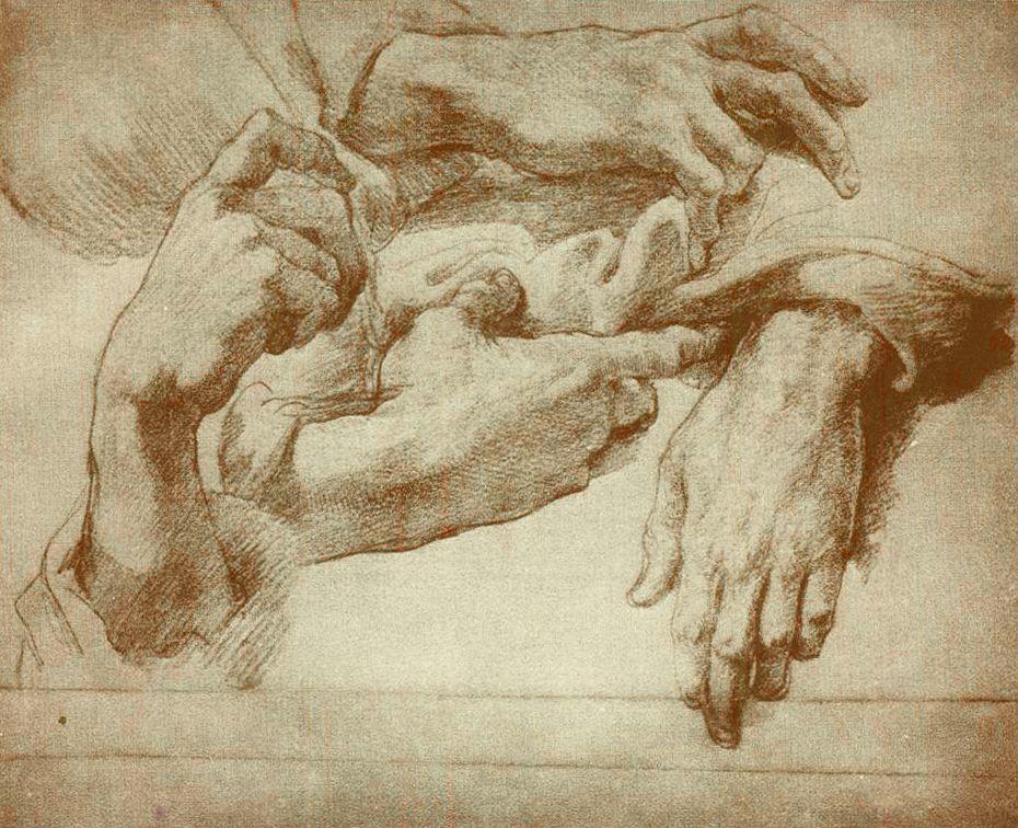 Andrea Del Sarto Drawings   Andrea Del Sarto, Study of Hands   Art ...