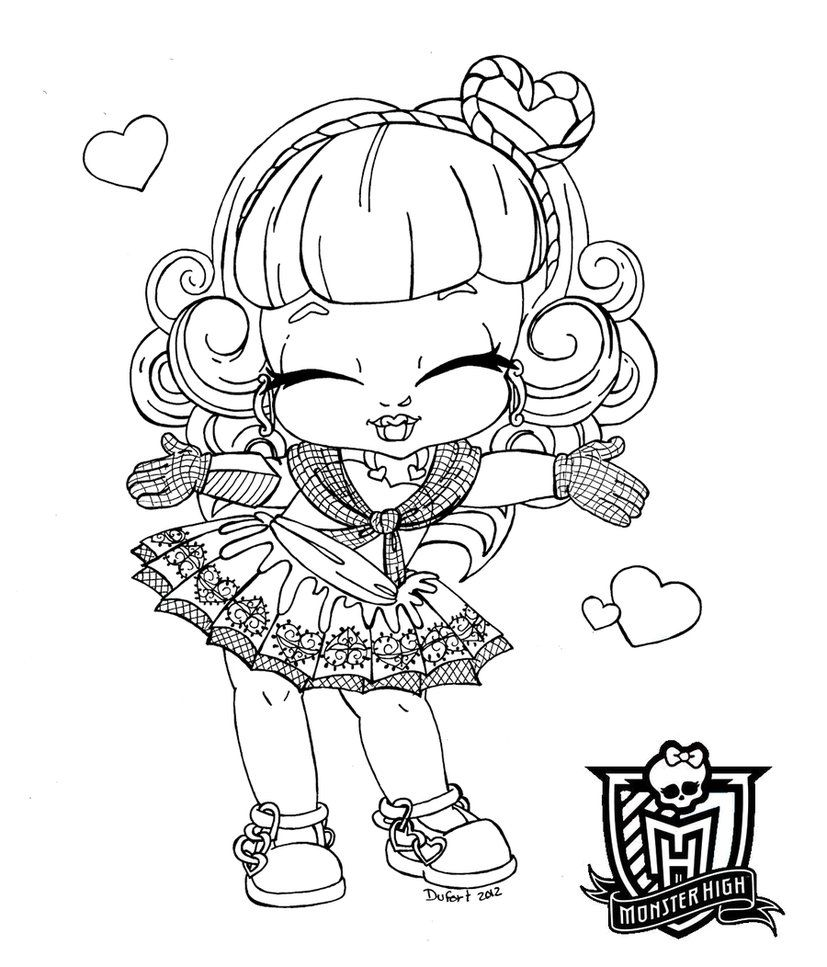 baby monster high coloring pages # 5
