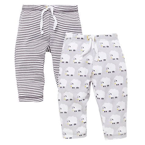 b51ab0f3a84c9f Buy John Lewis Sheep and Stripe Joggers, Pack of 2, Grey Online at johnlewis .com