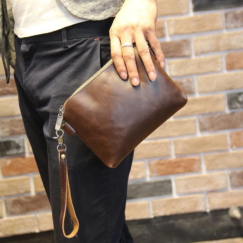 Men Clutch Bag Man Bags European Leather S Accessories Fashion Messenger Zipper