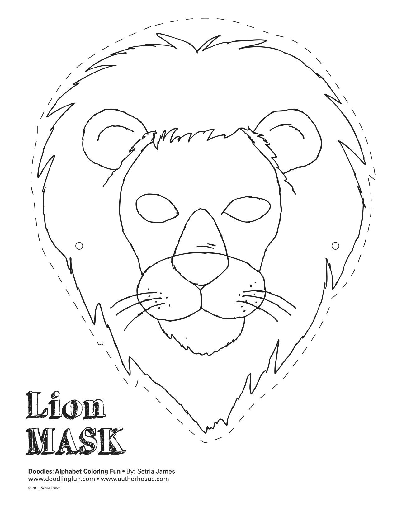 Lion Mask Theatrics Kiddos Play Craft Coloring Animal