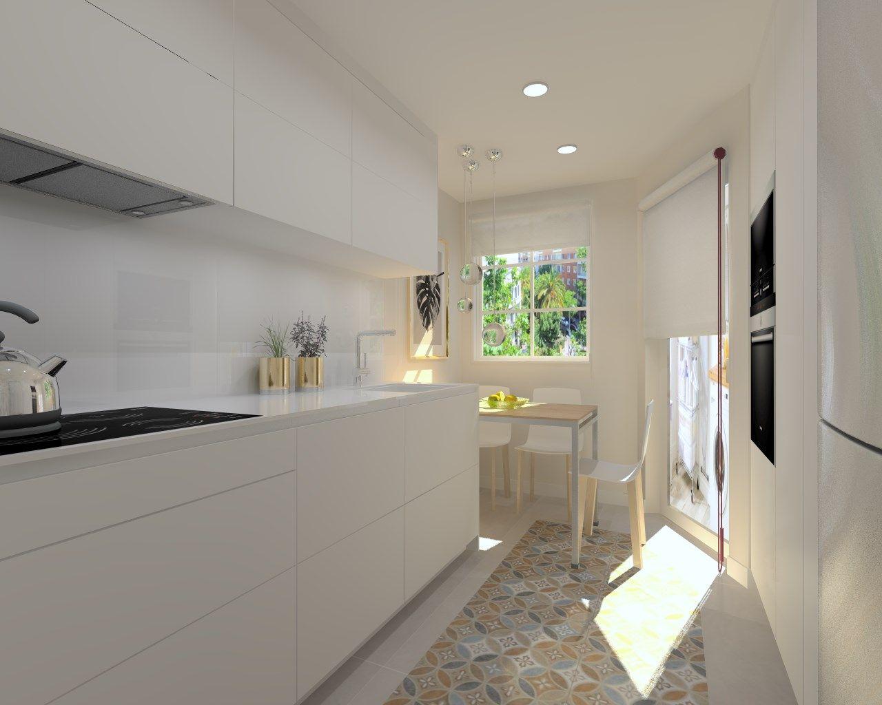 Acogedora cocina con suelo hidráulico | Casa | Pinterest