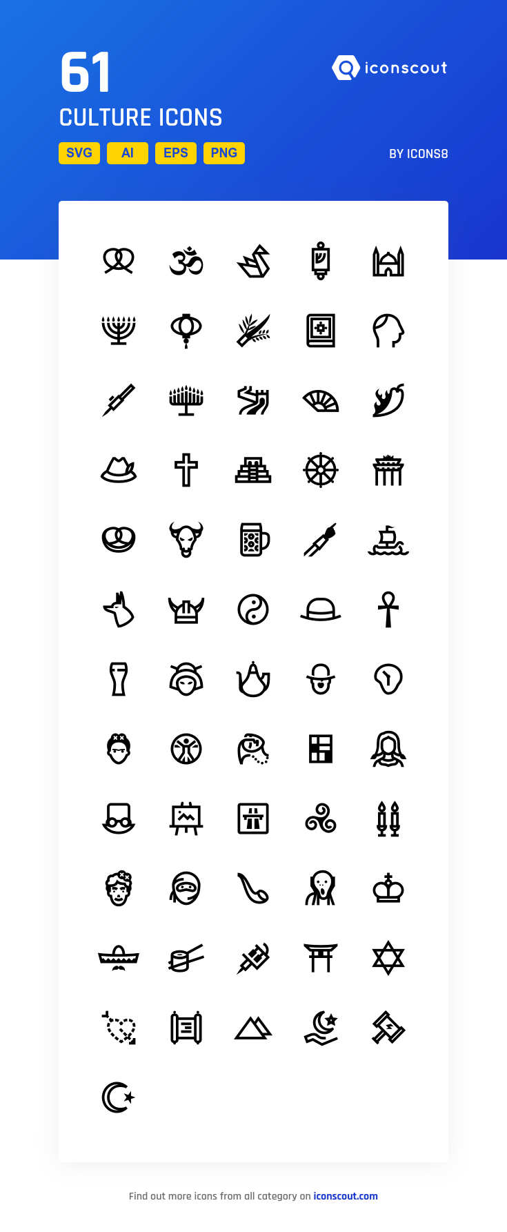 Download Culture Icon pack Available in SVG, PNG, EPS