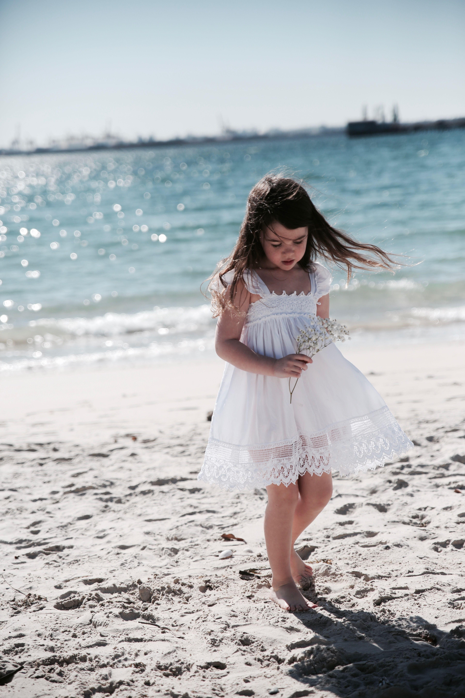 Beach flower girl dress by tea princess urchin dress