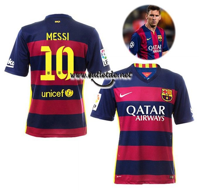 Prix maillot Messi barcelone 2015 2016 domicile