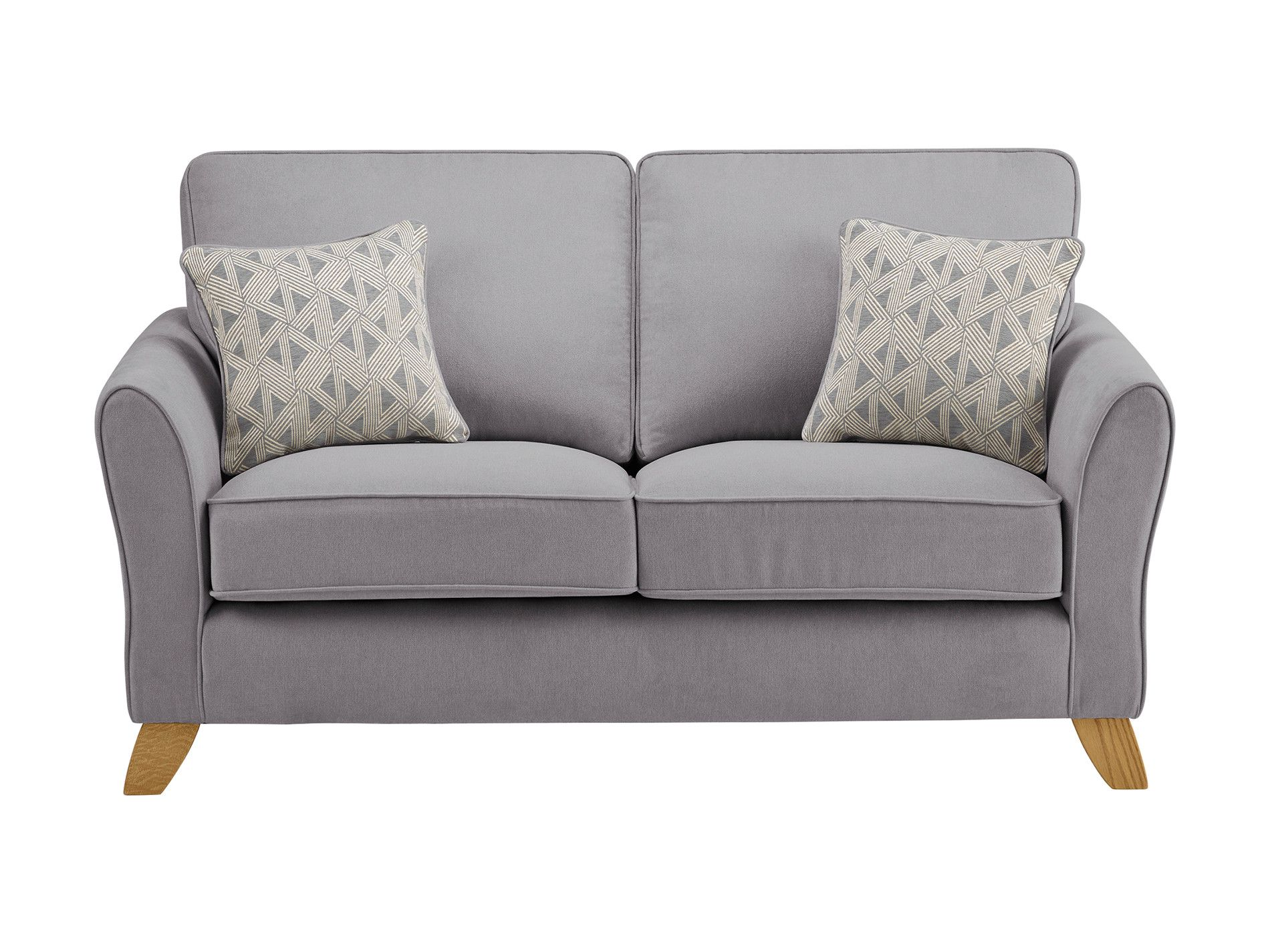 jasmine 2 seater sofa in cosmo fabric pewter with bamboo slate rh pinterest ca
