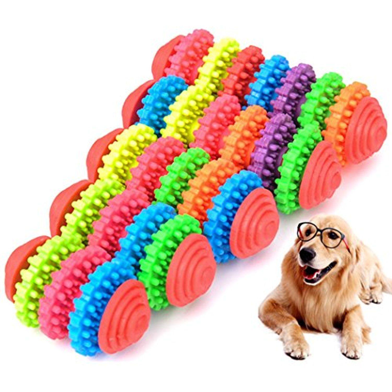 Pet Puppy Dog Plush Dental Teething Healthy Teeth Squeaky Training Play Toys