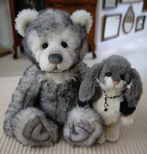 Charlie Bears Salt and Pepper Isabelle Lee Alpaca Jointed Teddy Bear