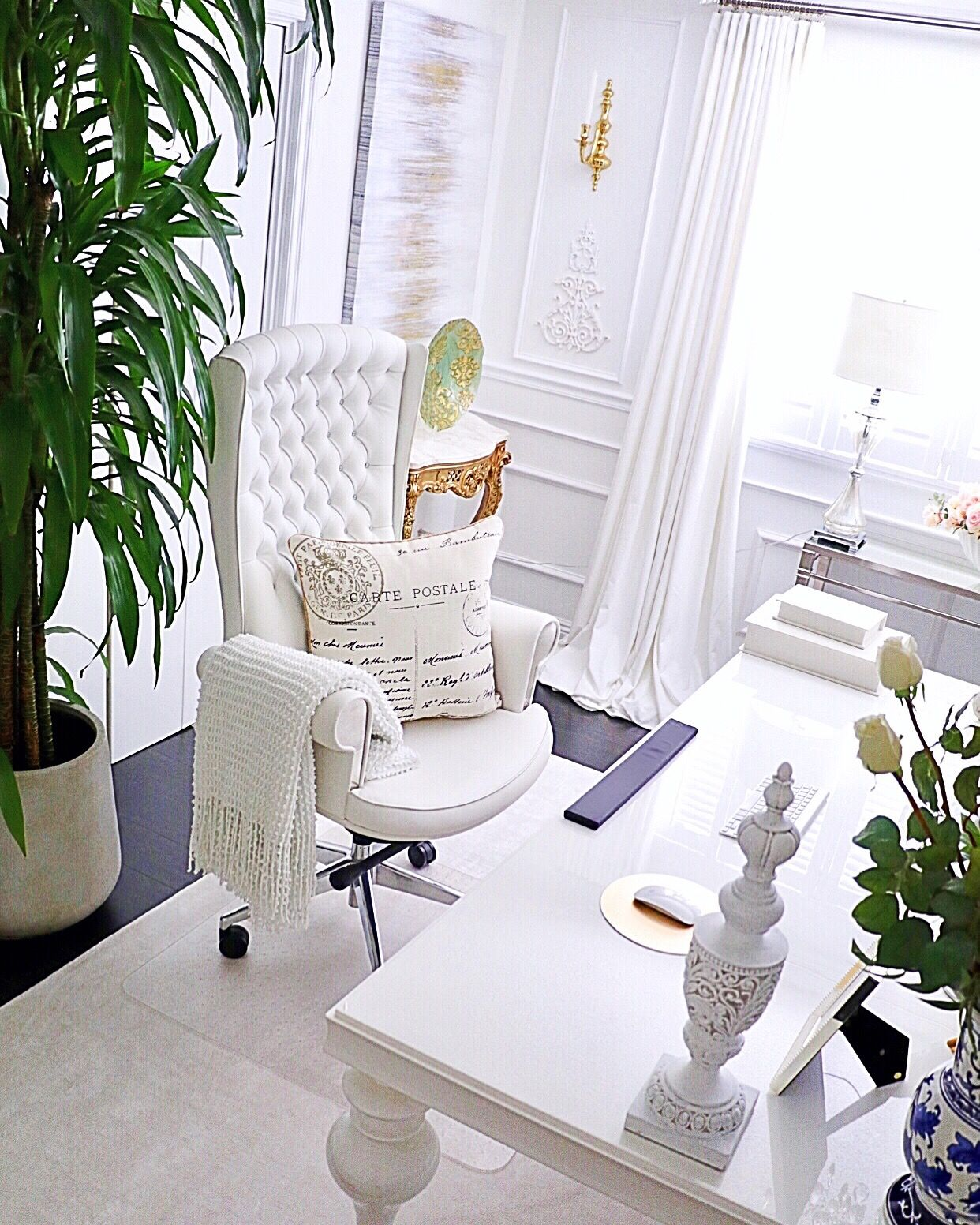 Flipped My Modern Glam Home #officedesign Into A Luxury