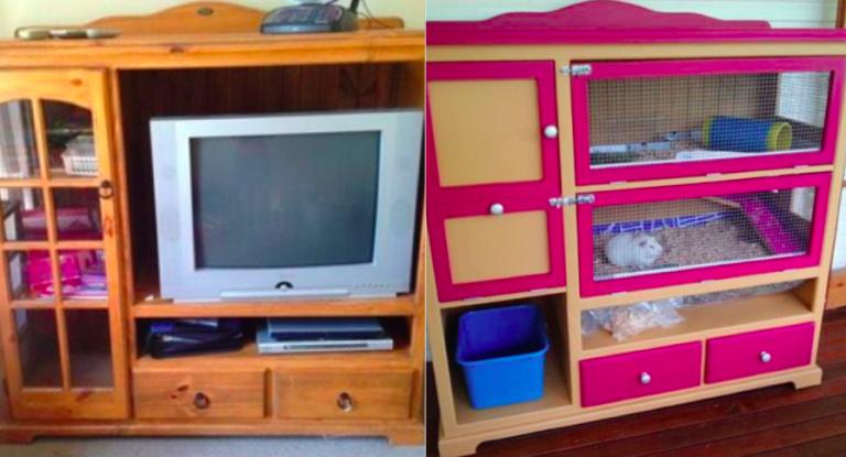 comment transformer de vieux meubles en cages pour vos rongeurs recycler pinterest vieux. Black Bedroom Furniture Sets. Home Design Ideas