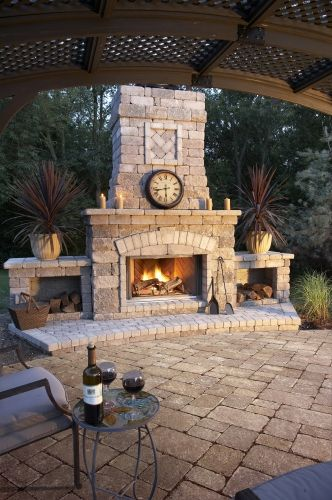 Outdoor fireplace Fireplaces Pinterest Terrazas, Jardín y Patios