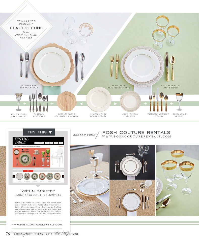 Design your perfect tabletop with our POSH Virtual Table! Check it ...
