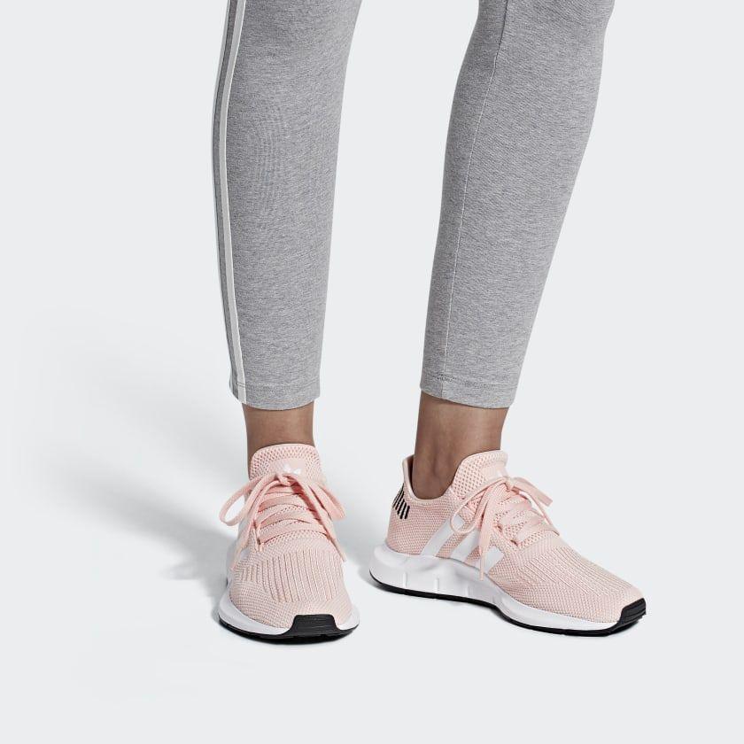 adidas originals swift run sneakers in pink