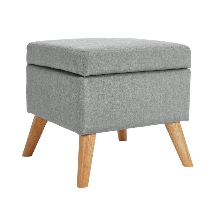 Buy Argos Home Lexie Fabric Storage Footstool Charcoal
