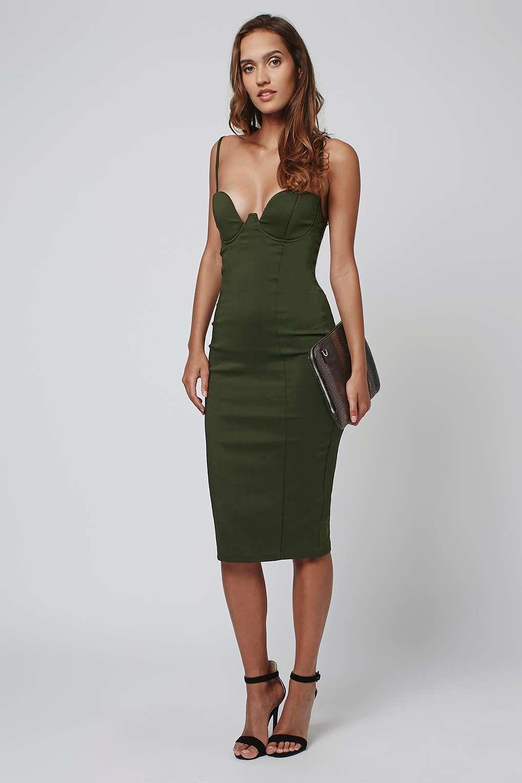 Strappy Bodycon Midi Dress by Rare - Dresses - Clothing