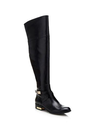 bottes cuir femme promo