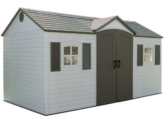 Lifetime Garden Sheds 6446 8 X 15 Side Entry Storage Shed Storage Shed Kits Outdoor Storage Sheds Plastic Storage Sheds