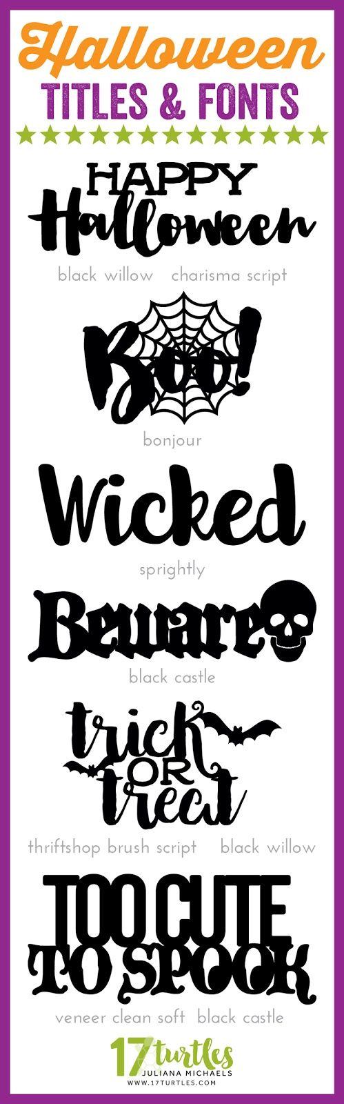 halloween titles and fontsjuliana michaels 17turtles | fun fonts