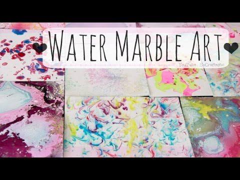 Diy Water Marble Art Paper Marbling With Nail Polish