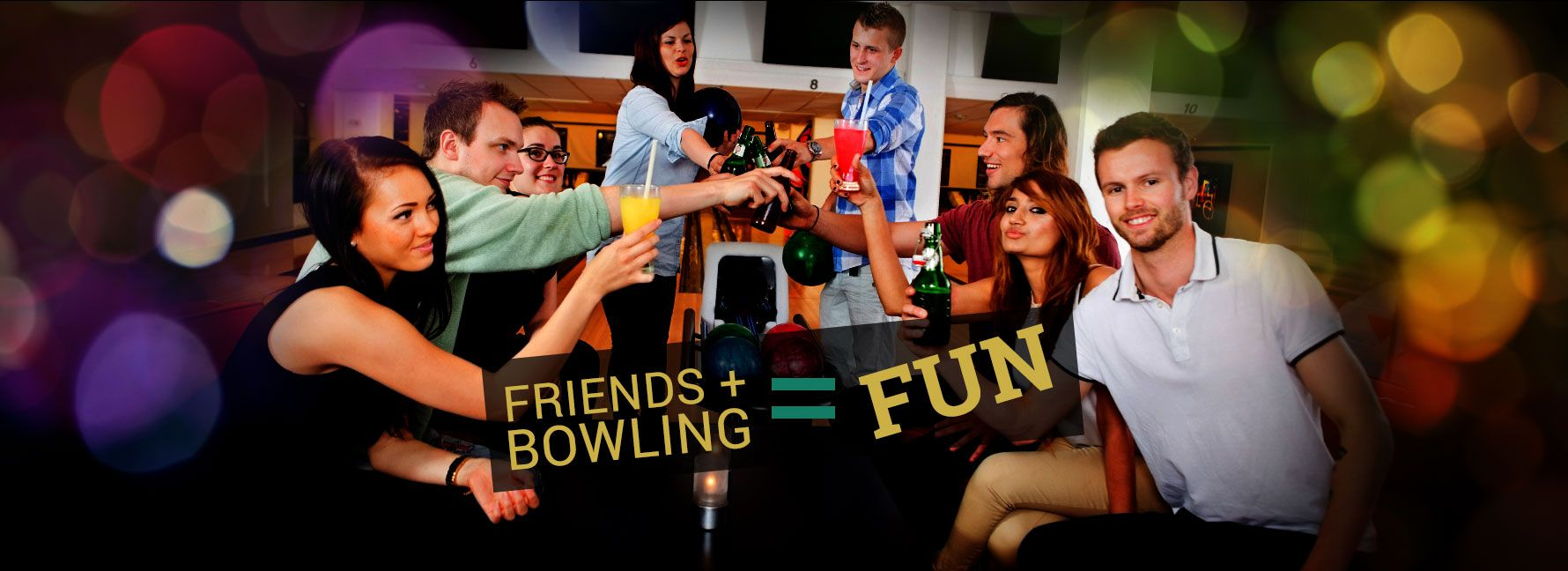 Bowling is a fun activity for family and friends fun