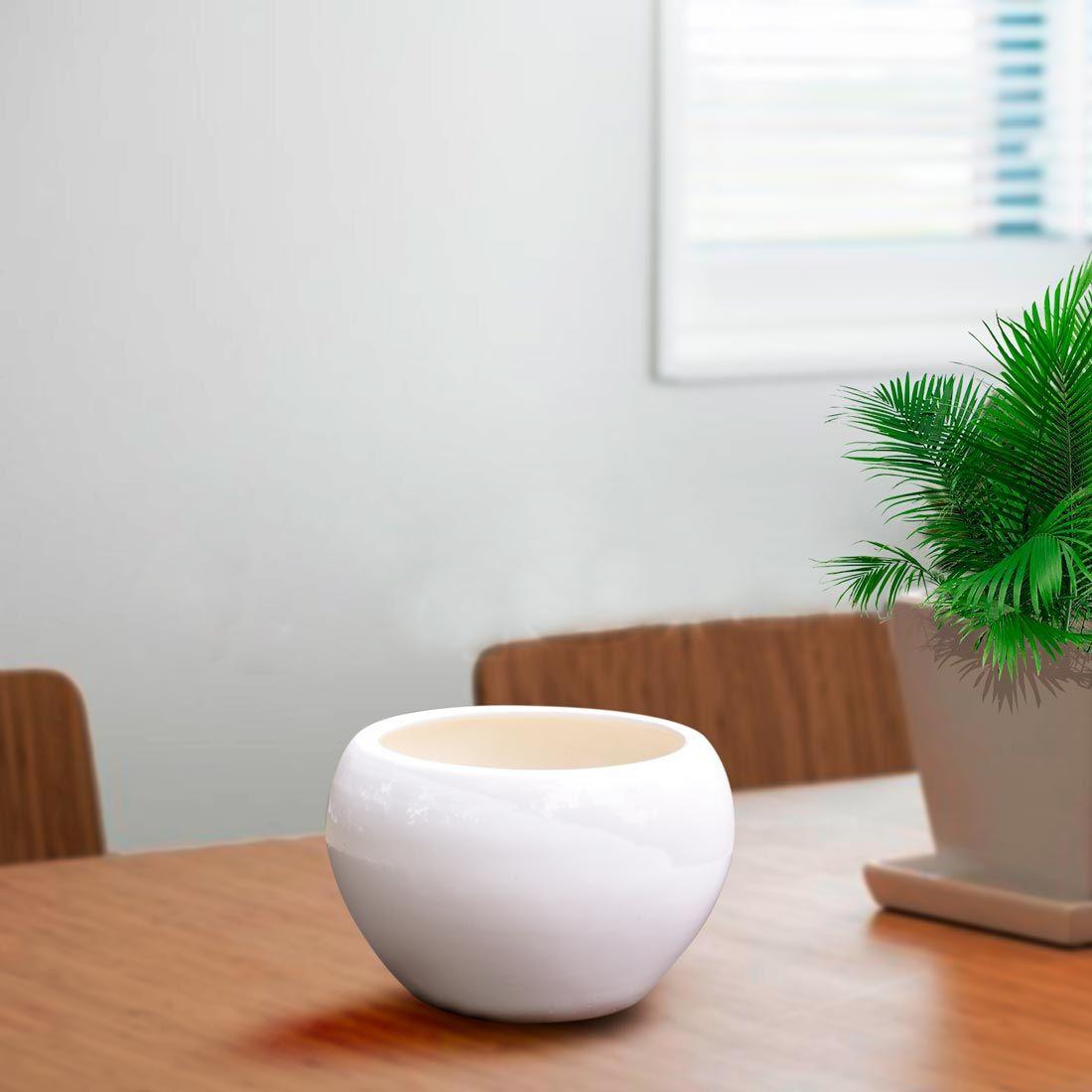 White Ceramic Spherical Planter Buy Online Planter Pots Indoor Planters Ceramic Plant Pots