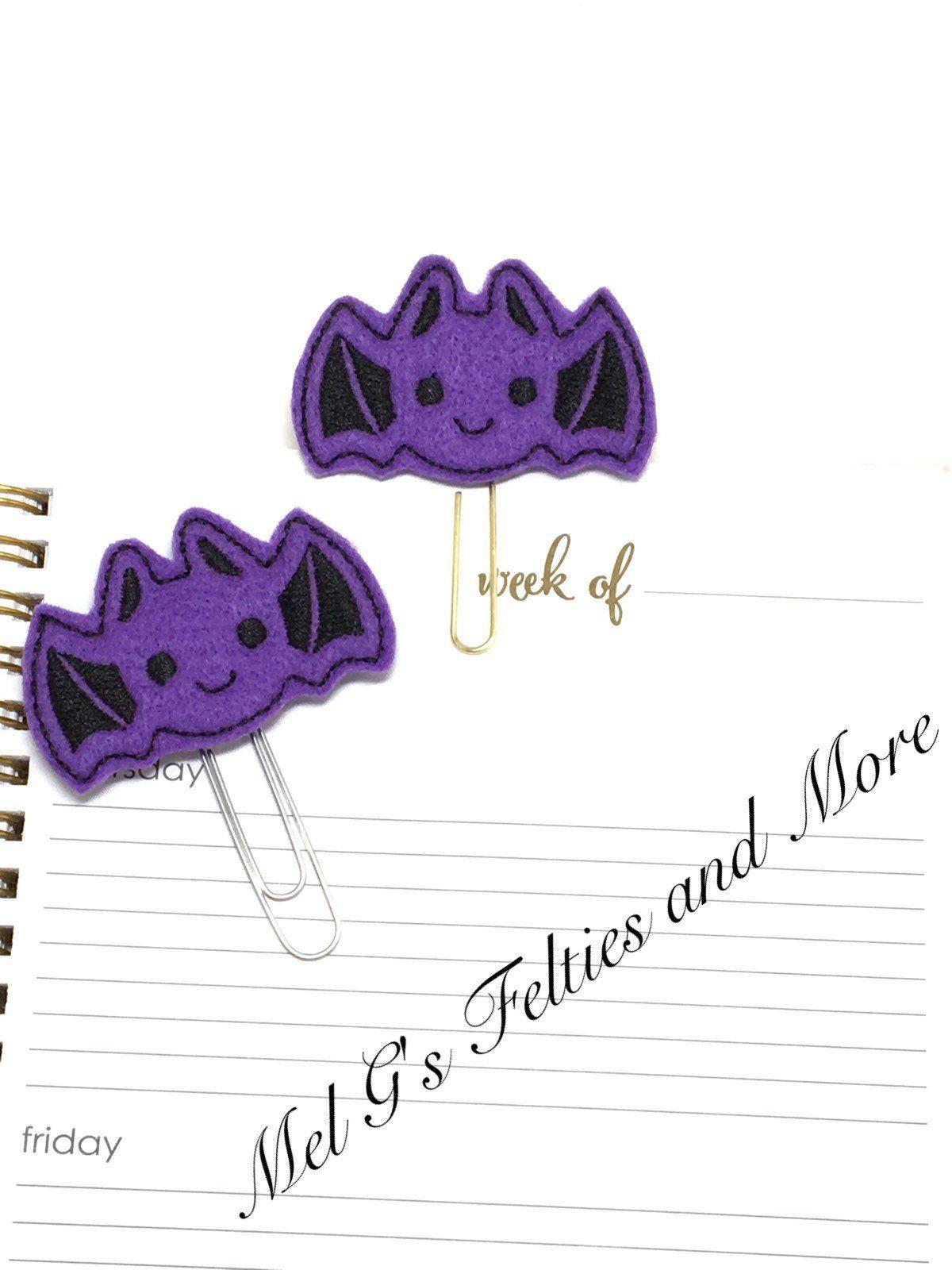 Bat Planner Clip Paper Fall Book Mark Journal Accessory Teacher Gift By