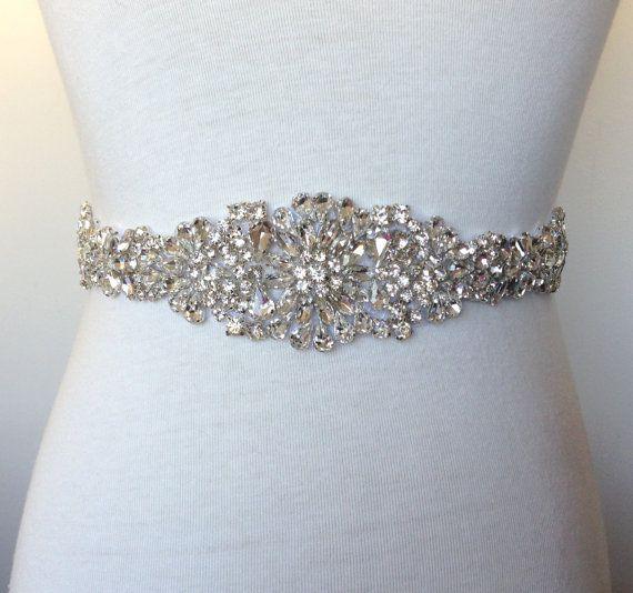 Crystal Sash-Bridal Sash-Rhinestone Sash-Bride Sash-Wedding Sash-Off ...