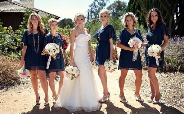 Navy Blue Bridesmaid Dresses Are Super Cute