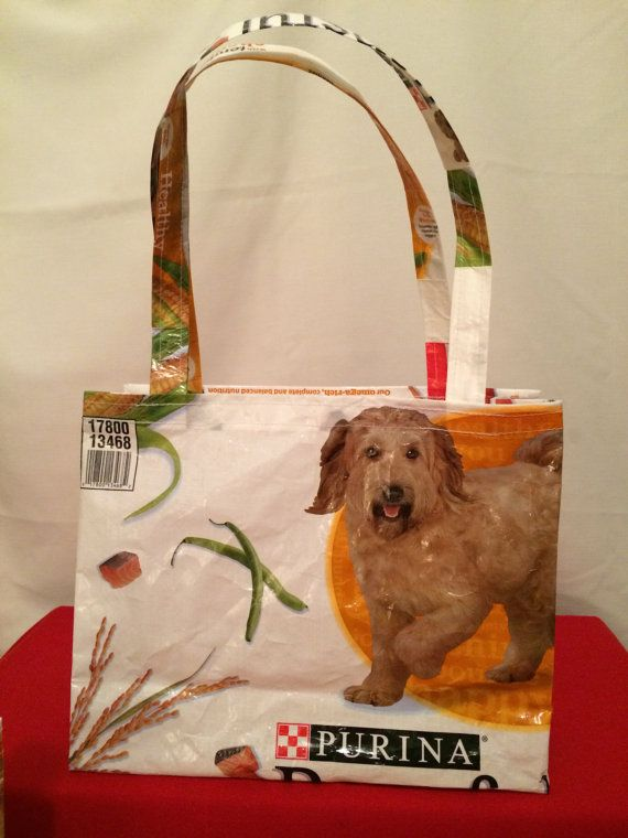 Recycled Repurposed Purina Beneful Tote Bag By Earthenvesselcrafts